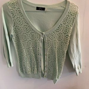 Anthropologie Sweaters - •Anthropologie• Crochet Lace Cardigan